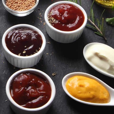 Sauces and Condiments on a Marble Background - Foodservice and Retail - AAK