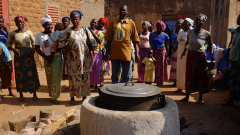 rocket stove in West Africa
