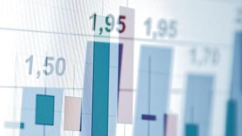Grafer med aktieutveckling i olika färger - Investerare - AAK