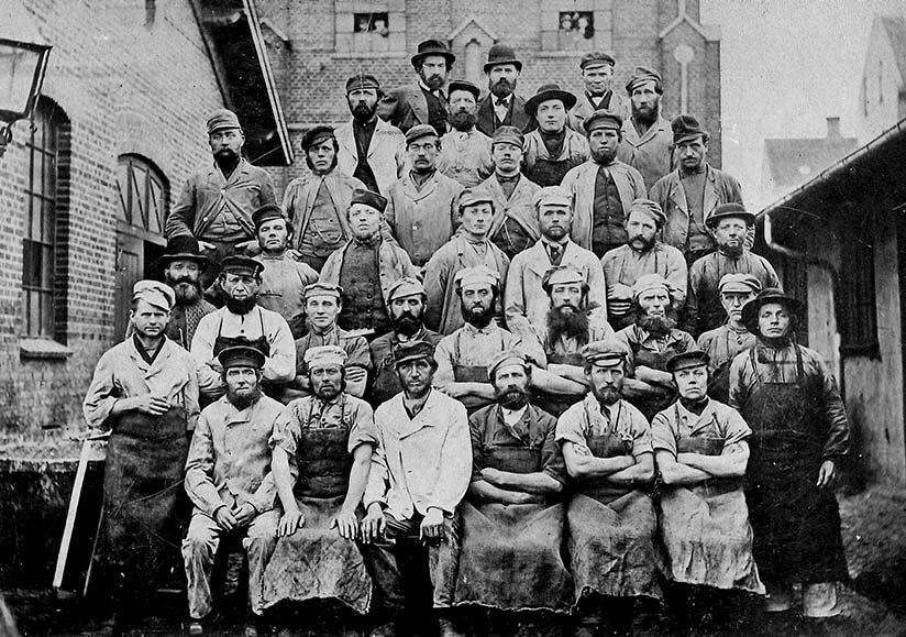 Medarbejderne ca. 1892