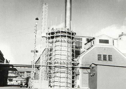 Også Kraftcentralen blev moderniseret og fik blandt andet ny skorsten.