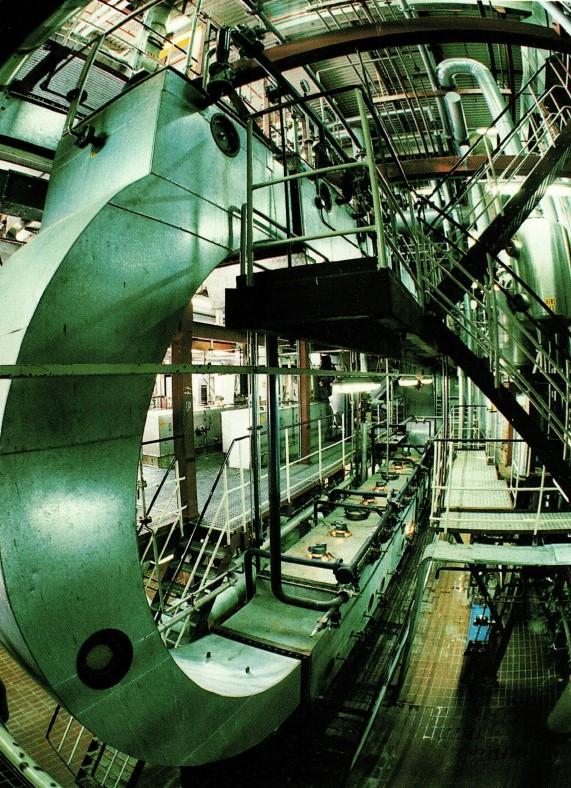 Proteinfabrikken set indefra.