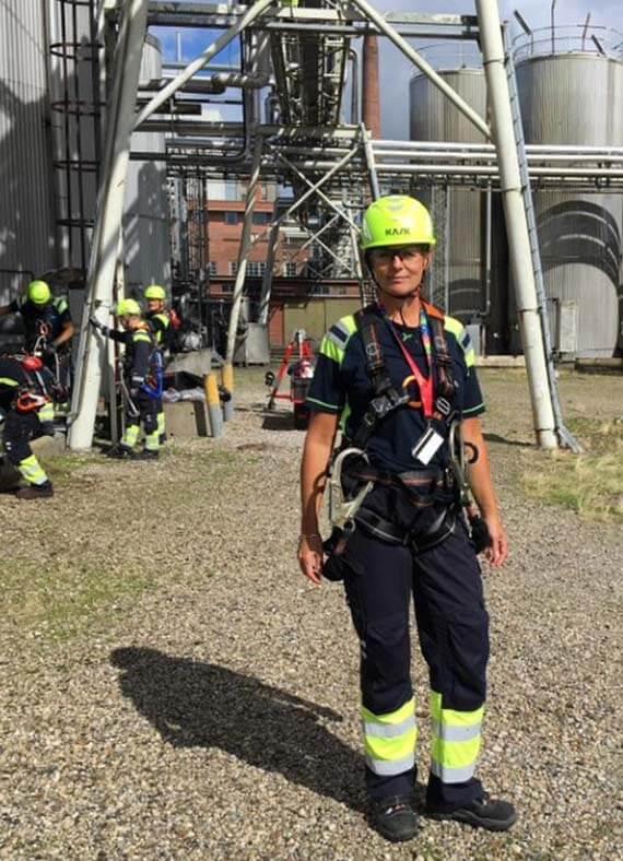 Sikkerhedschef Marian Kjærgaard sørger for at sikkerheden er i top på AAK.